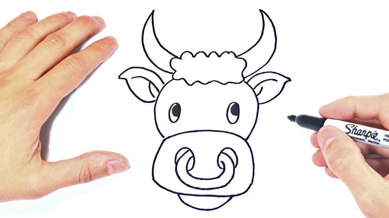 Cómo dibujar un Toro Paso a Paso  Dibujo de Toro, dibujos de Un Toro, como dibujar Un Toro paso a paso