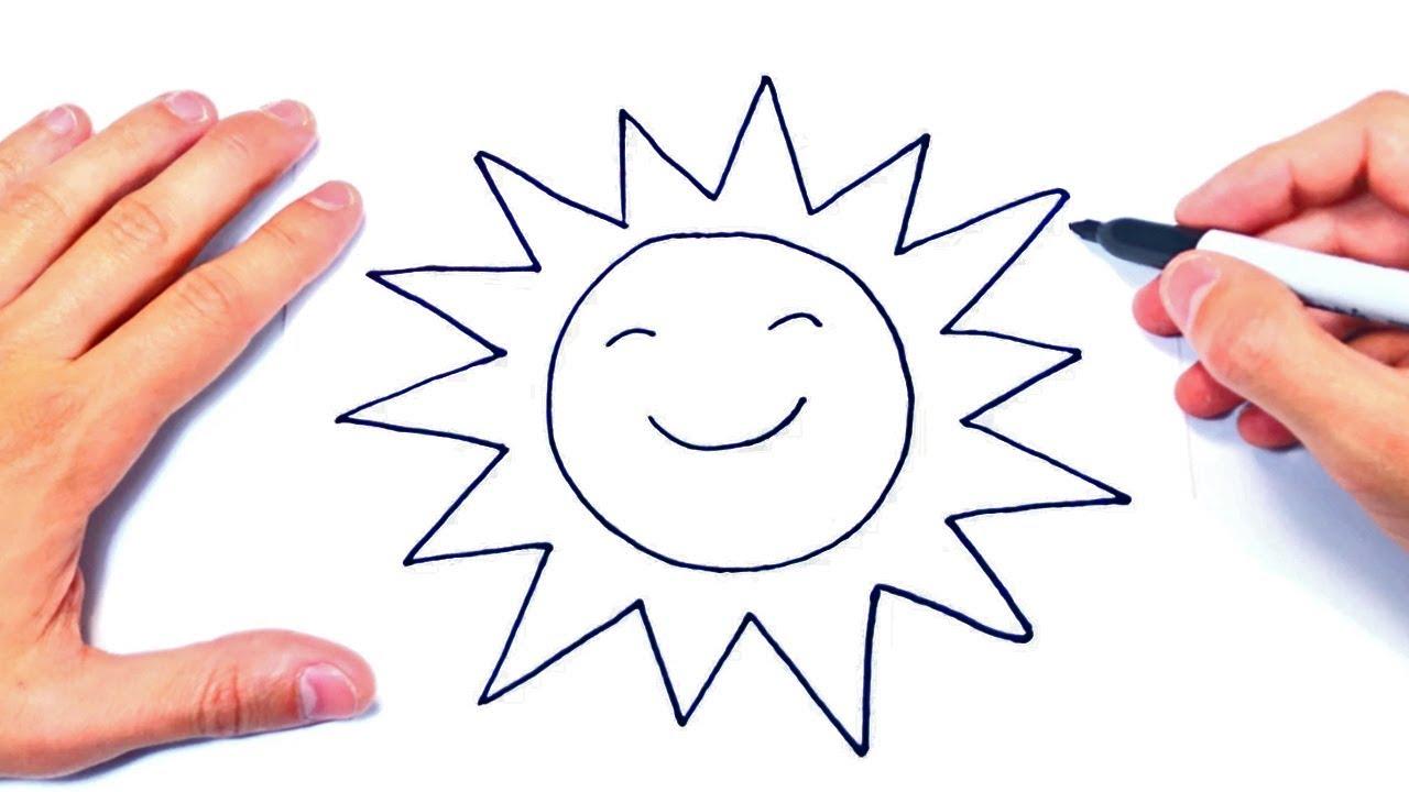 Cómo dibujar un El Sol Paso a Paso  Dibujo Facil de un Sol, dibujos de Un Sol, como dibujar Un Sol paso a paso