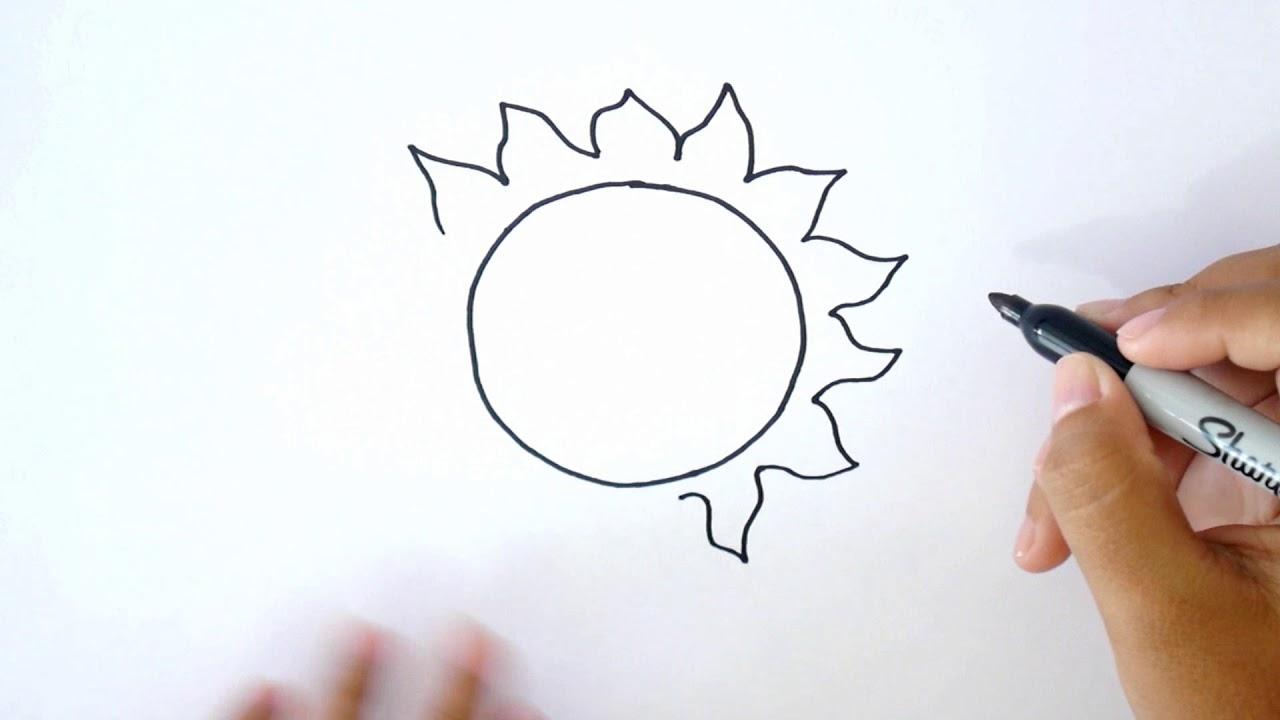 ¿Cómo Dibujar un Sol Sonriendo? Dibujo un Sol Sonriendo, dibujos de Un Sol, como dibujar Un Sol paso a paso