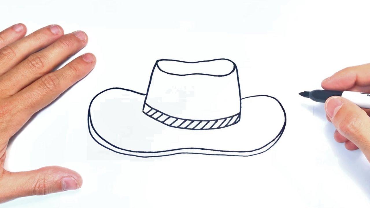 Cómo dibujar un Sombrero Paso a Paso  Dibujo de Sombrero, dibujos de Un Sombrero, como dibujar Un Sombrero paso a paso