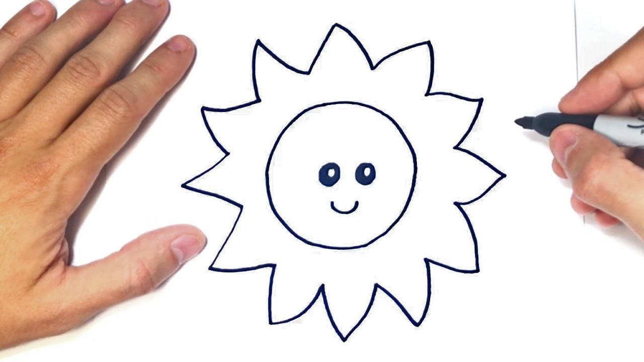 Cómo dibujar un Sol Kawaii Paso a Paso  Dibujo de Sol Kawaii, dibujos de Un Sol, como dibujar Un Sol paso a paso