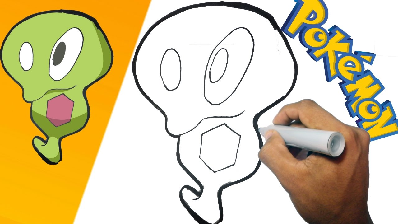 Como dibujar a Blandito - Pokemon paso a paso how to draw Squishy - Pokemon, dibujos de Un Pokémon, como dibujar Un Pokémon paso a paso