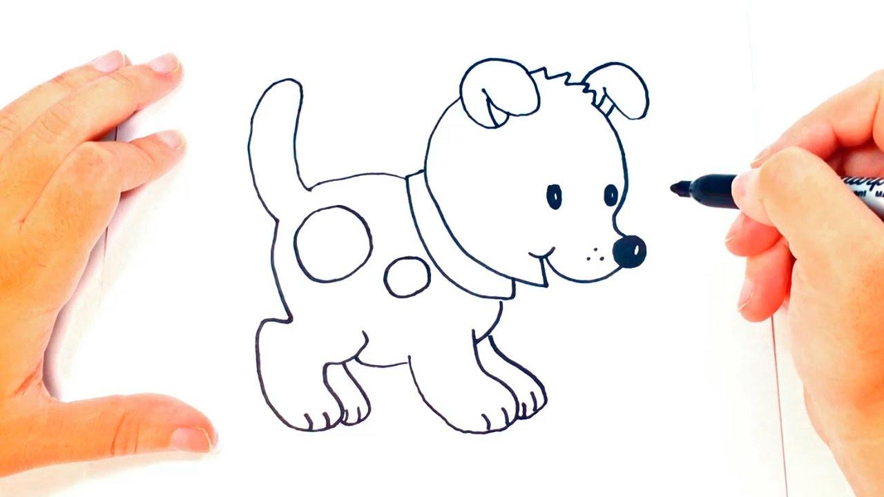 Cómo dibujar un Perrito paso a paso Dibujo fácil de Perrito, dibujos de Un Perro Sencillo, como dibujar Un Perro Sencillo paso a paso