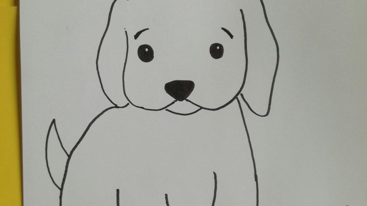 Cómo dibujar un perro fácil -, dibujos de Un Perro Sencillo, como dibujar Un Perro Sencillo paso a paso
