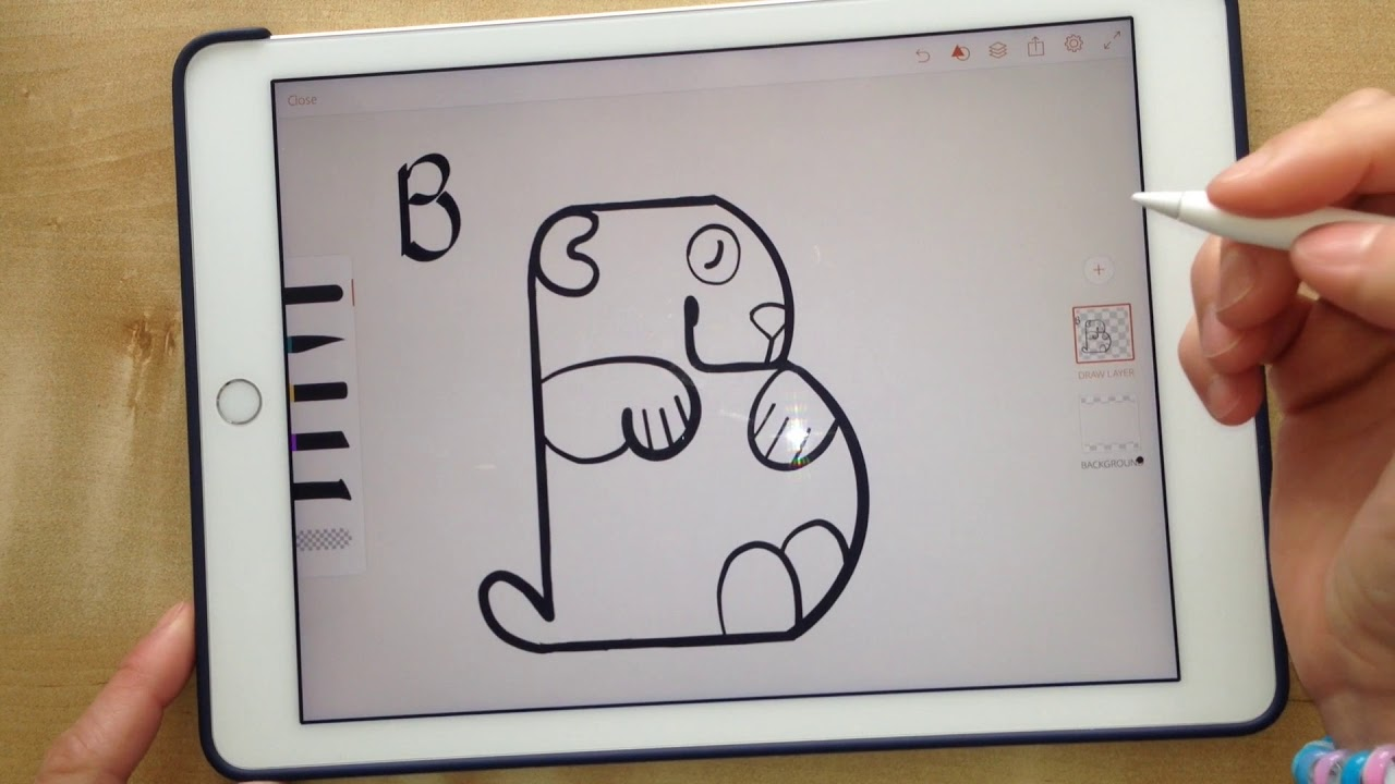 Como dibujar un Oso Panda desde la letra