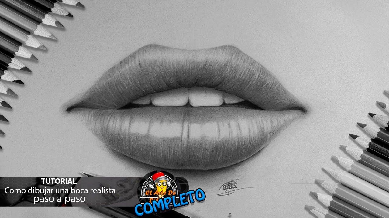 Como dibujar una boca: labios realista paso a paso FACIL I How to draw a  mouth: realistic lips, dibujos de Unos Labios Realistas, como dibujar Unos Labios Realistas paso a paso