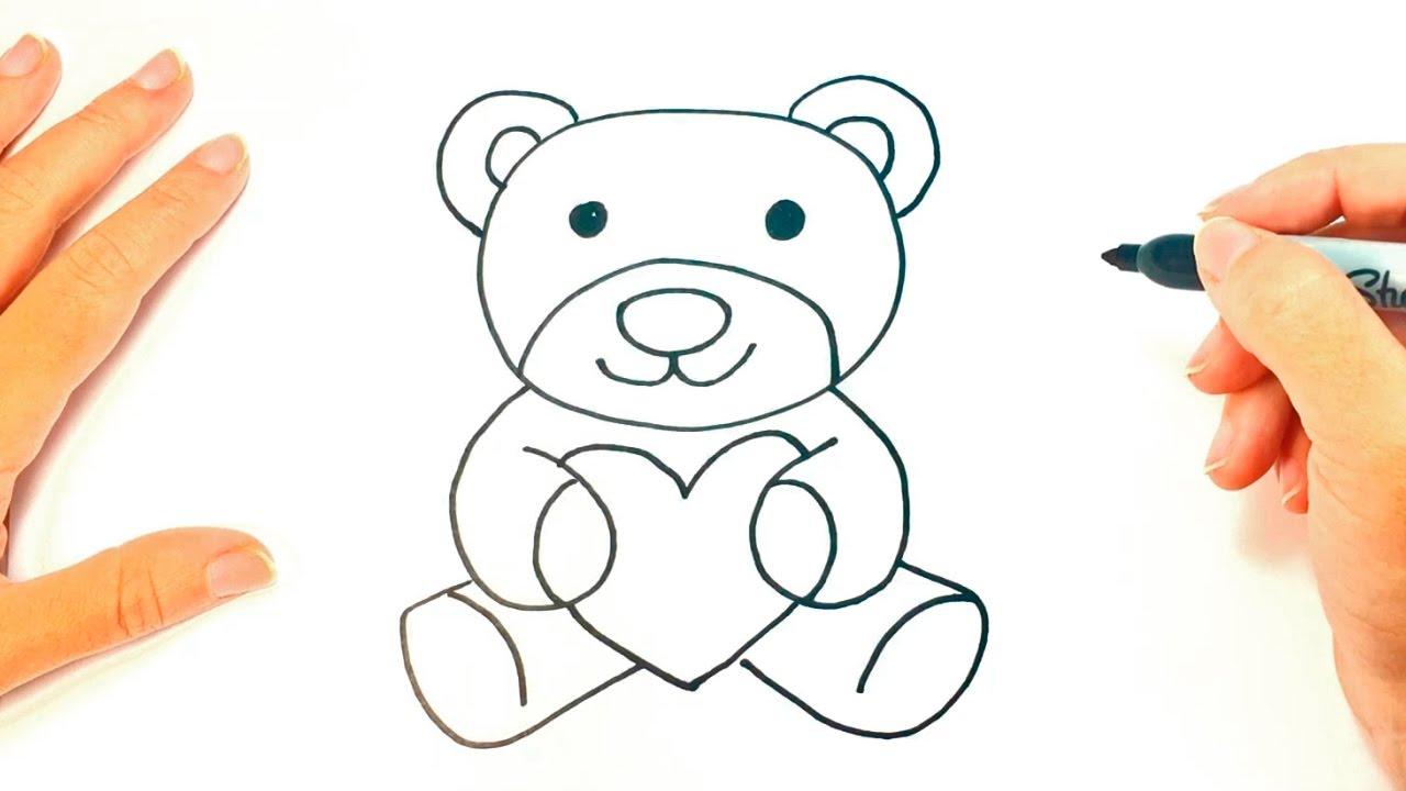 Cómo dibujar un Osito de Peluche para niños  Dibujo de Osito de Peluche, dibujos de Un Oso Para Niños, como dibujar Un Oso Para Niños paso a paso