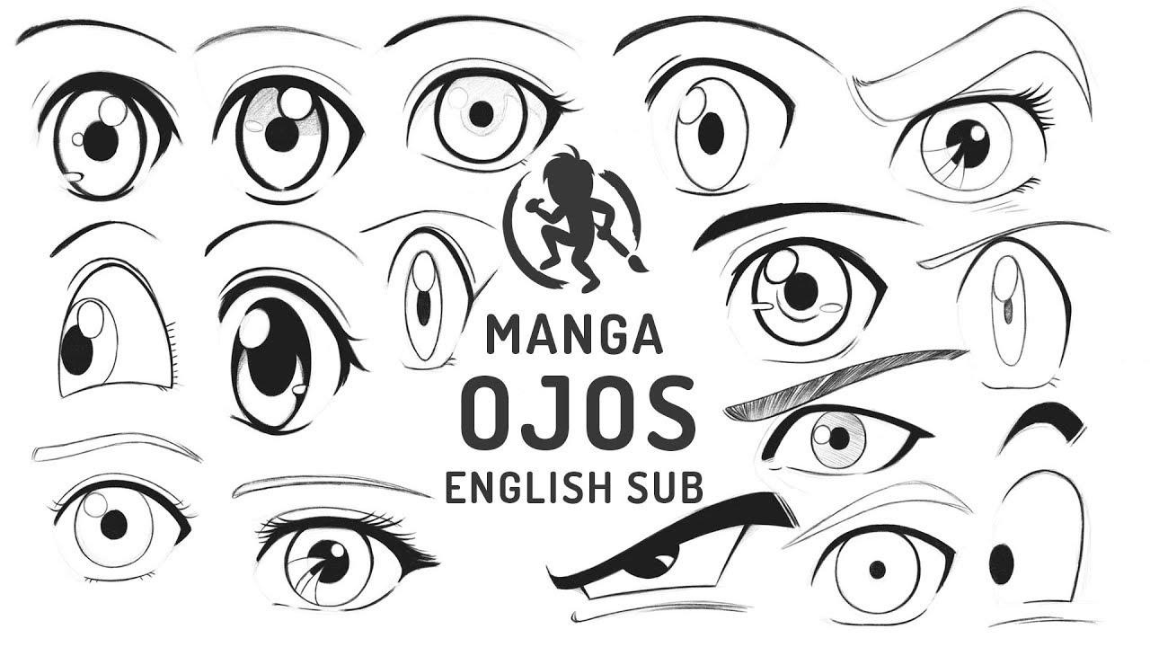 Como dibujar Manga - Ojos 👁 Kevin Farias, dibujos de Un Manga, como dibujar Un Manga paso a paso