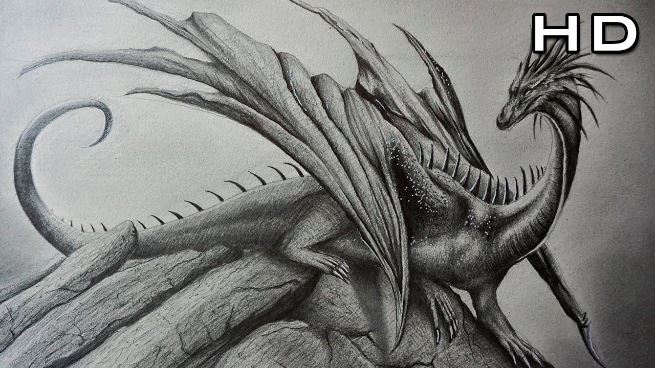 Cómo Dibujar un Dragón Realista a Lápiz Paso a Paso - TUTORIAL, dibujos de Un Dragón A Lápiz, como dibujar Un Dragón A Lápiz paso a paso