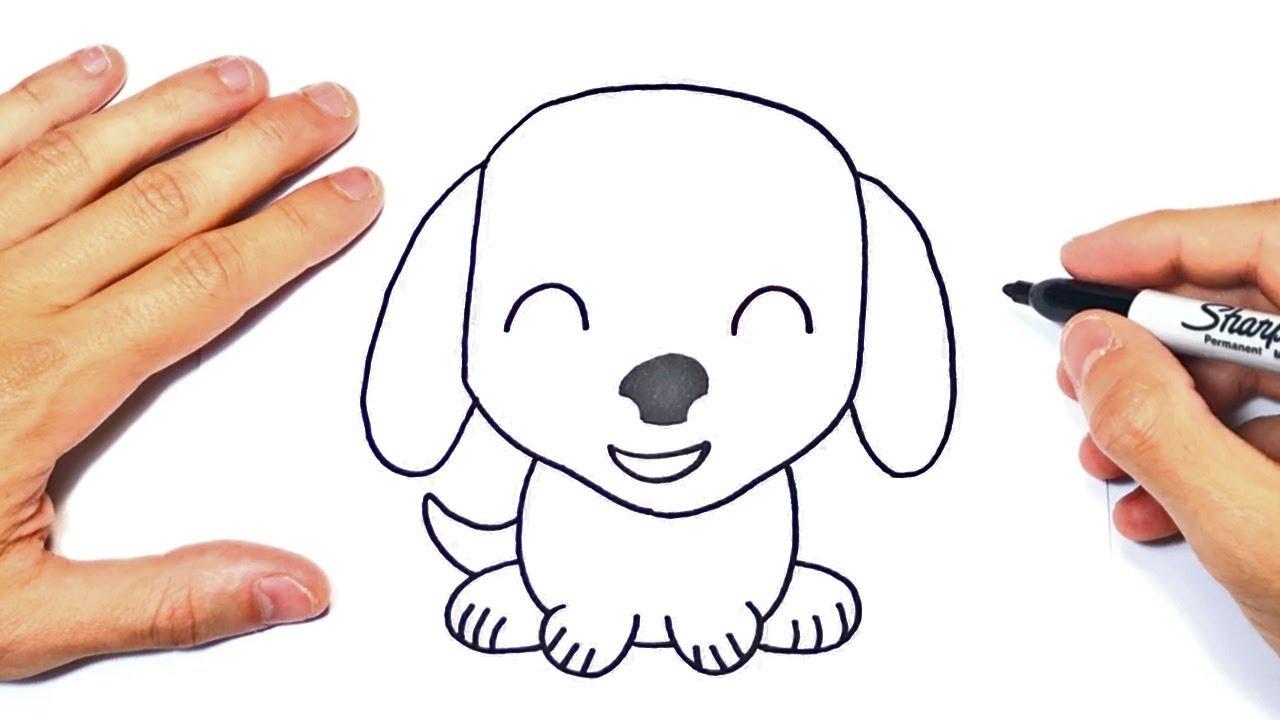 Cómo dibujar un Perrito Kawaii Paso a Paso y fácil, dibujos de Un Cachorro, como dibujar Un Cachorro paso a paso