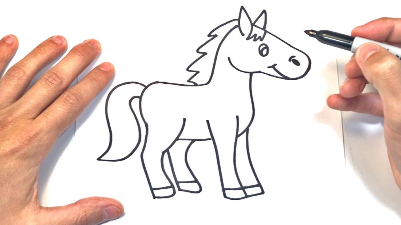 Como dibujar un Caballo  Dibujo Fácil de Caballo, dibujos de Un Caballo Para Niños, como dibujar Un Caballo Para Niños paso a paso