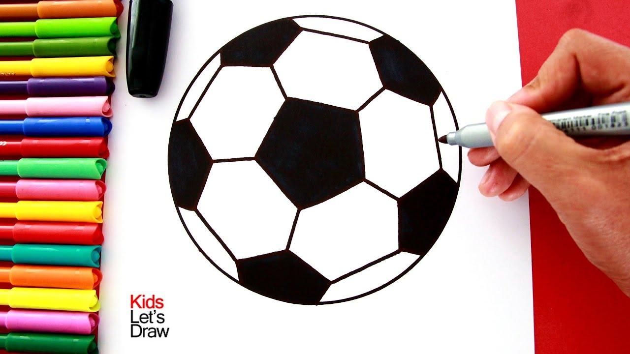Cómo dibujar una PELOTA DE FÚTBOL de manera fácil (Método dibujo paso a  paso), dibujos de Un Balón De Fútbol, como dibujar Un Balón De Fútbol paso a paso