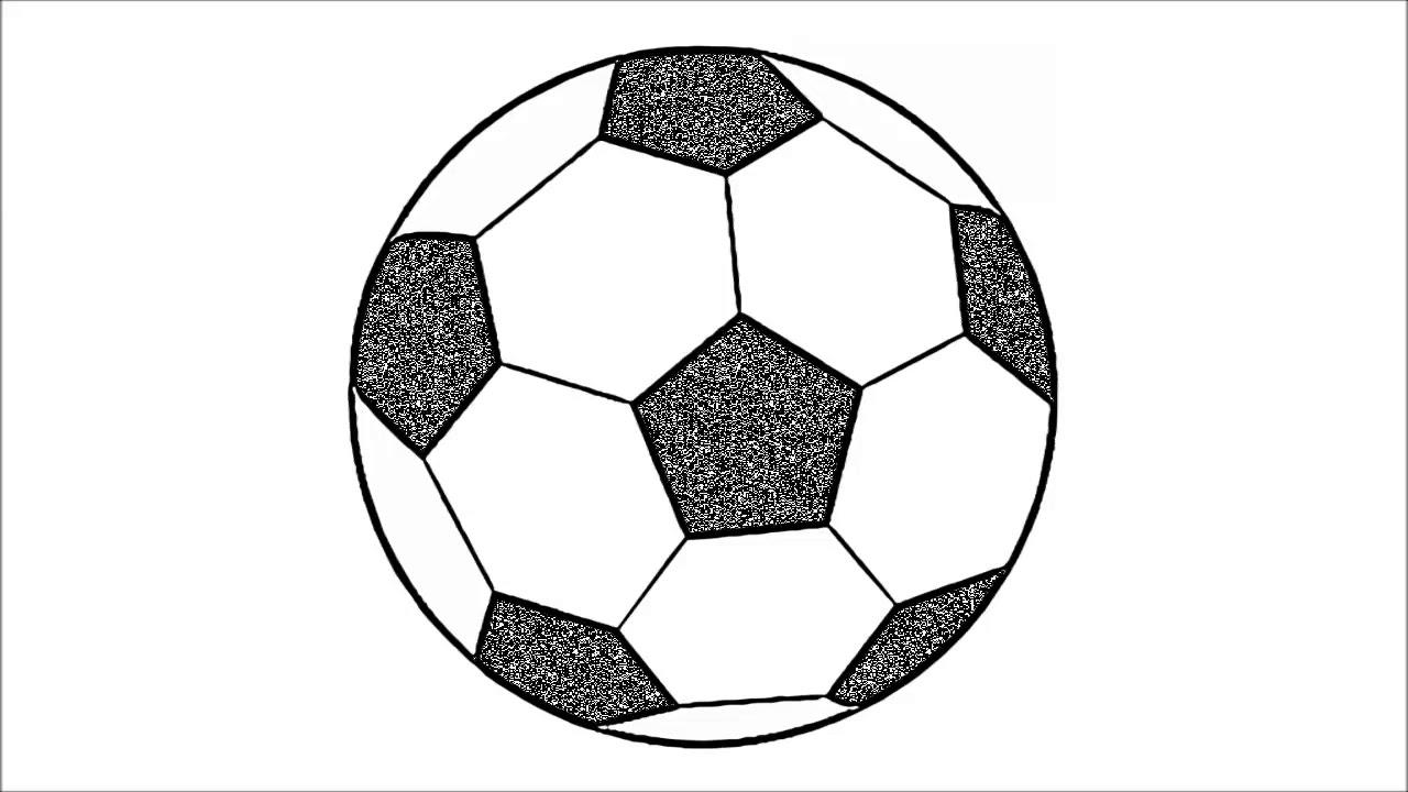 Cómo dibujar un balón de fútbol (fácil), dibujos de Un Balón De Fútbol, como dibujar Un Balón De Fútbol paso a paso