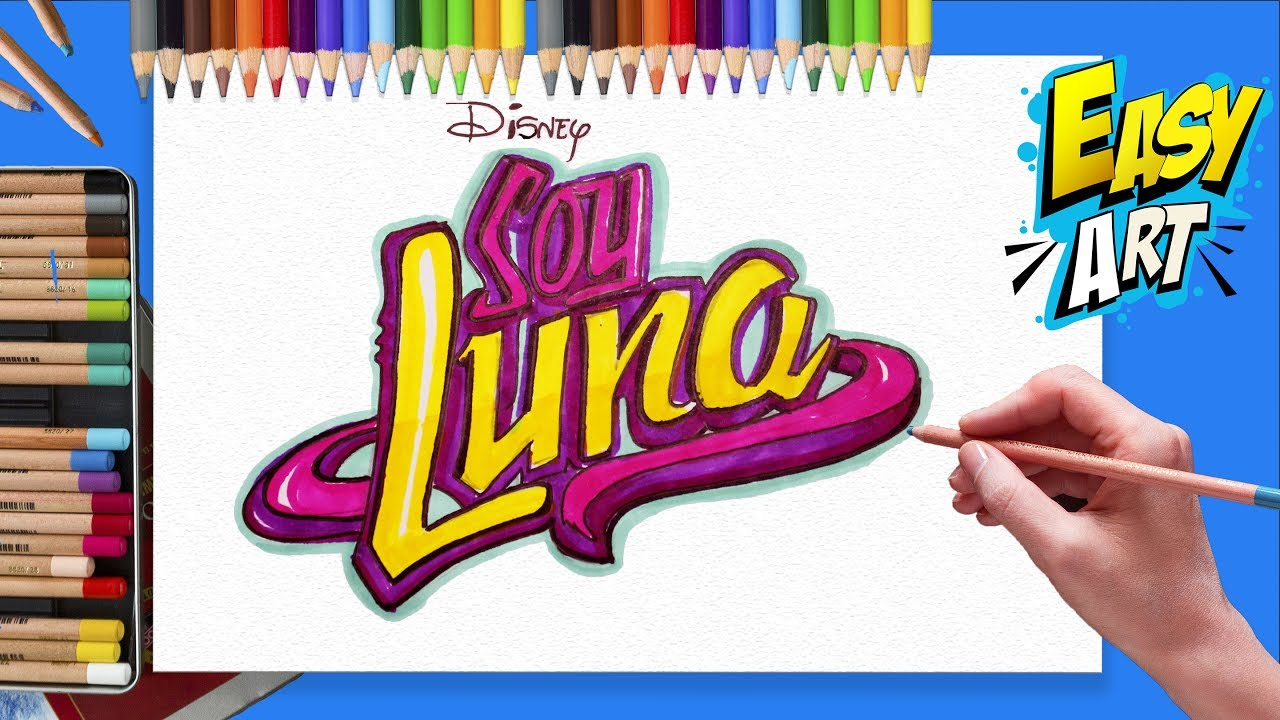 SOY LUNA LOGO - COMO DIBUJAR SOY LUNA - Easy Art, dibujos de Tu Nombre Estilo Soy Luna, como dibujar Tu Nombre Estilo Soy Luna paso a paso