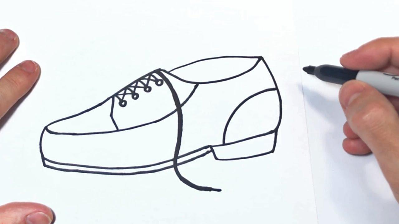 Cómo dibujar un Zapato Paso a Paso  Dibujo de Zapatos, dibujos de Zapatos, como dibujar Zapatos paso a paso