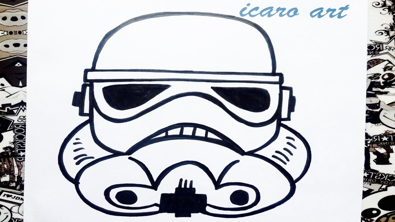 Como dibujar un soldado imperial how to draw stormtrooper star wars, dibujos de Star Wars, como dibujar Star Wars paso a paso