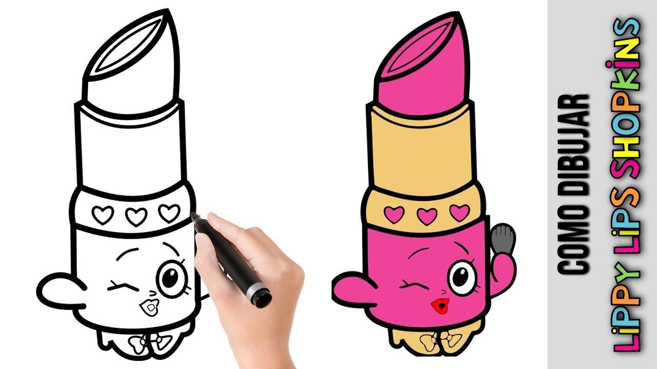 Como Dibujar Lippy Lips Shopinks ★ Dibujos Fáciles Para Dibujar Paso A Paso, dibujos de Shopkins, como dibujar Shopkins paso a paso