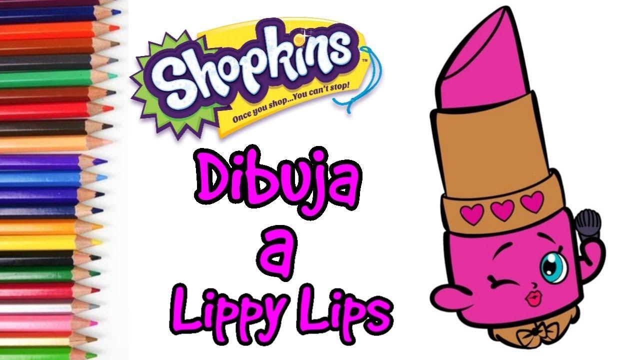 Shopkins - Como Dibujar y Pintar a Lippy Lips 🎨🖌️, dibujos de Shopkins, como dibujar Shopkins paso a paso