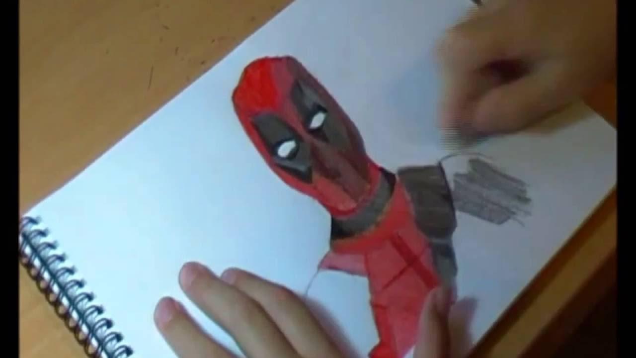 COMO DIBUJAR A DEADPOOL Dibujando a personajes de películas - YouTube, dibujos de Personajes De Peliculas, como dibujar Personajes De Peliculas paso a paso