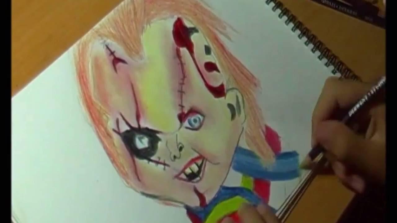 COMO DIBUJAR A CHUCKY Dibujando a personajes de peliculas - YouTube, dibujos de Personajes De Peliculas, como dibujar Personajes De Peliculas paso a paso
