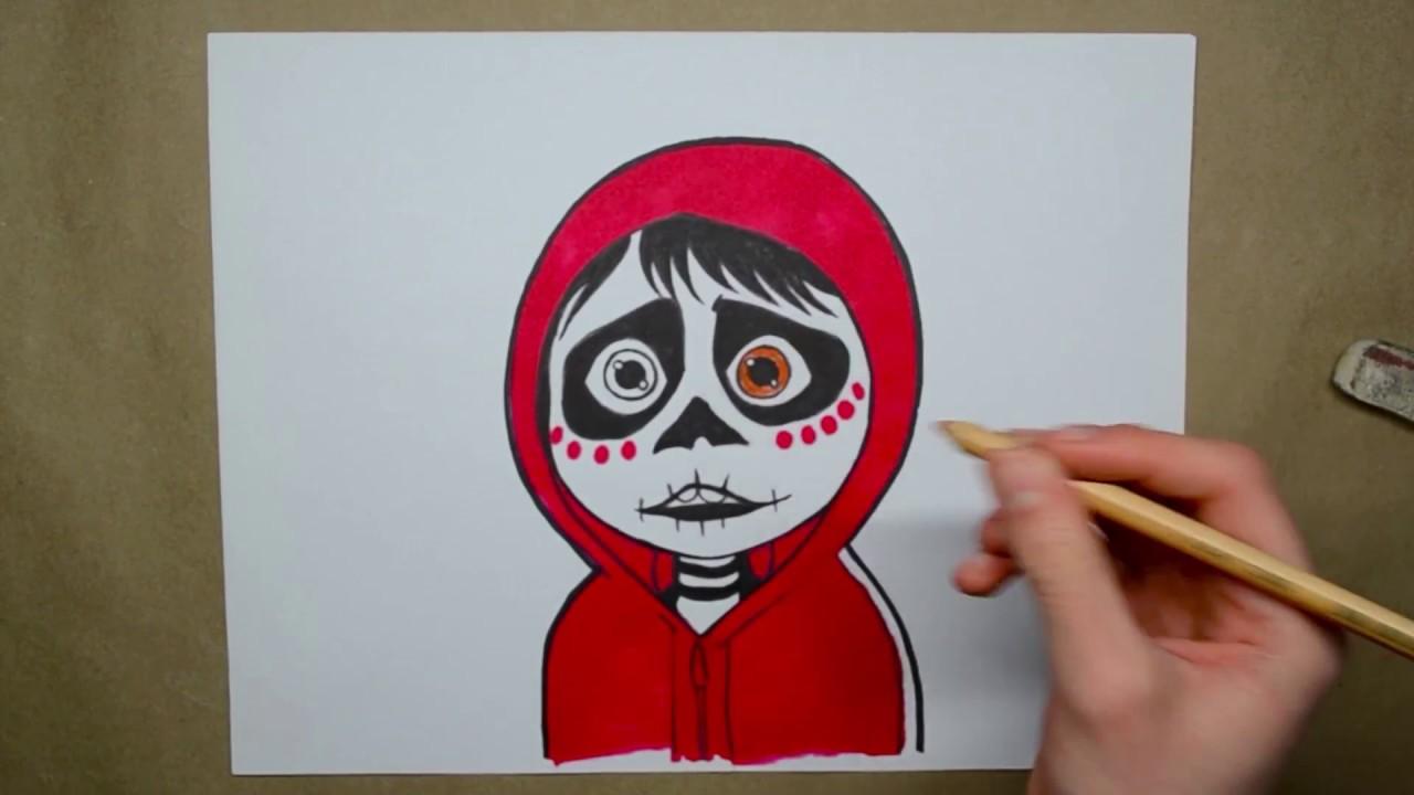 ¿Cómo dibujar a Miguel de Coco? How to draw Miguel from Coco?, dibujos de Personajes De Coco, como dibujar Personajes De Coco paso a paso
