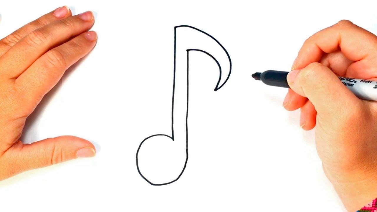 Cómo dibujar una Nota Musical paso a paso Dibujo fácil de Nota Musical, dibujos de Notas Musicales, como dibujar Notas Musicales paso a paso