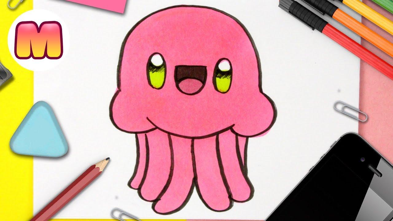 COMO DIBUJAR UNA MEDUSA KAWAII - Dibujos kawaii faciles - Aprender a  dibujar animales kawaii, dibujos de Medusa Kawaii, como dibujar Medusa Kawaii paso a paso