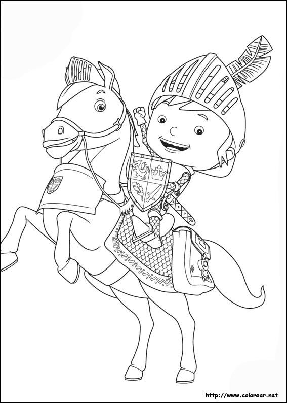 Dibujos para colorear de Mike el Caballero, dibujos de Mike El Caballero, como dibujar Mike El Caballero paso a paso