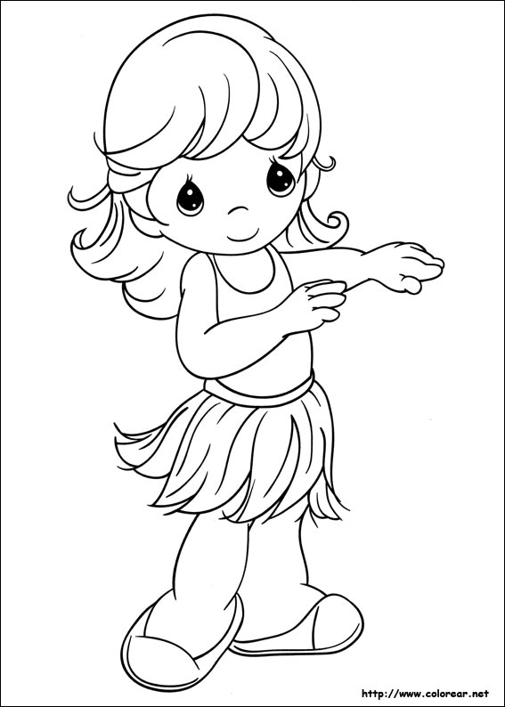 Dibujos para colorear de Preciosos Momentos, dibujos de Preciosos Momentos, como dibujar Preciosos Momentos paso a paso