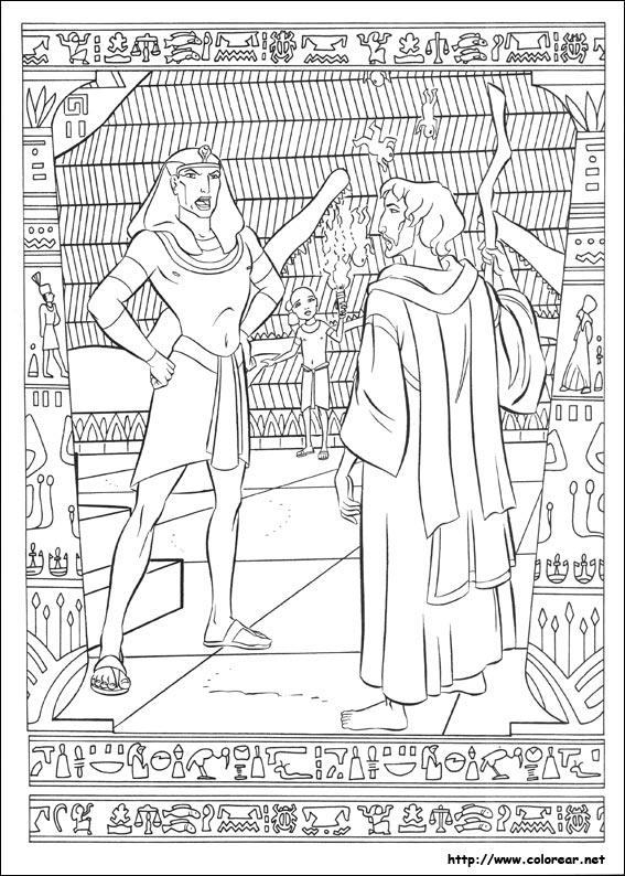 Dibujos para colorear de El príncipe de Egipto, dibujos de Príncipe Egipto, como dibujar Príncipe Egipto paso a paso