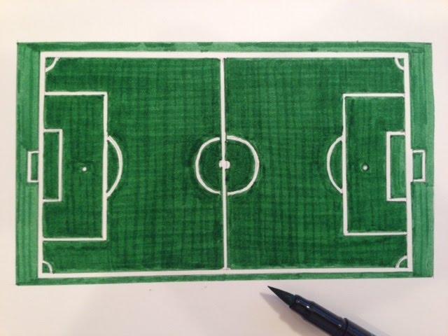 Cómo dibujar un campo de fútbol - YouTube, dibujos de Un Campo De Fútbol, como dibujar Un Campo De Fútbol paso a paso