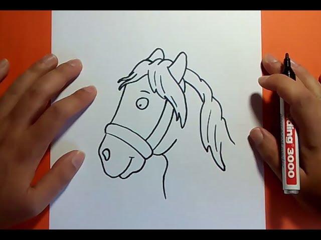 Como dibujar un caballo paso a paso 4  How to draw a horse 4 - YouTube, dibujos de La Cabeza De Un Caballo, como dibujar La Cabeza De Un Caballo paso a paso