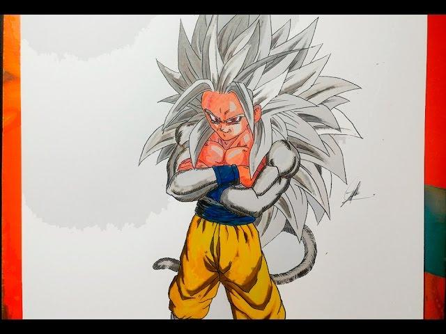DIBUJANDO A GOKU SSJ 5 Dragon Ball AF - How To Draw SSJ5 - YouTube, dibujos de A Gokú Ssj 5, como dibujar A Gokú Ssj 5 paso a paso