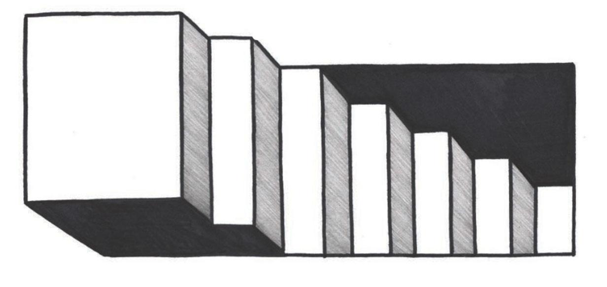 pasos 6, El arte de dibujar ilusiones ópticas