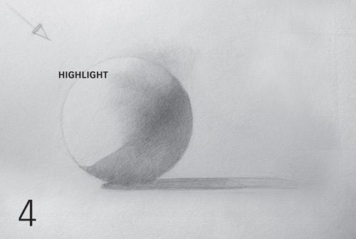 cómo sombrear una esfera, modelar la forma paso a paso