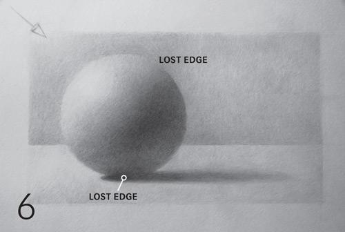 cómo dibujar una esfera, bordes perdidos realistas