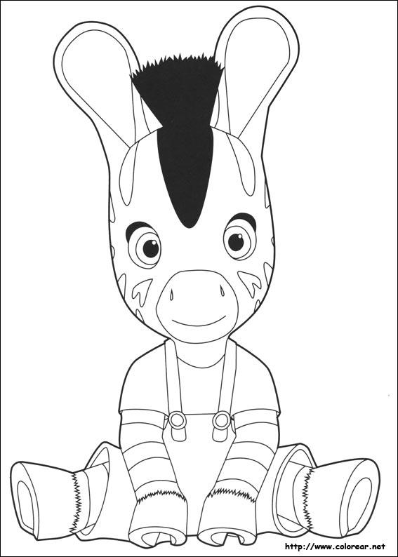 Dibujos para colorear de Zou, dibujos de Zou, como dibujar Zou paso a paso