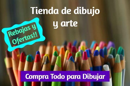 tienda para comprar materiales de dibujo, tienda de dibujo y materiales de arte, comprar instrumentos y complementos para colorear pintar y arte